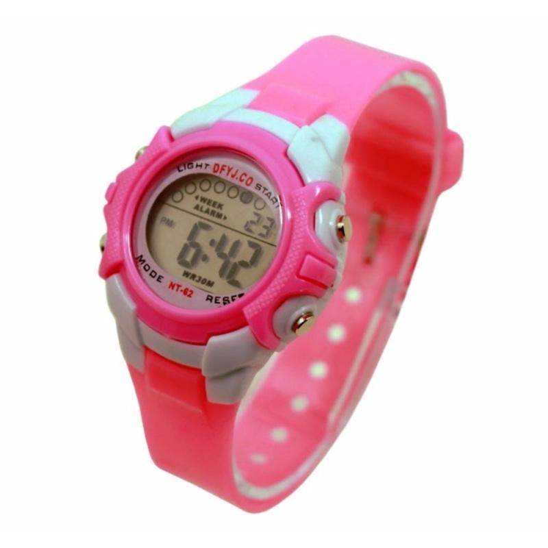 Đồng hồ thể thao trẻ em dây nhựa (Hồng) bán chạy