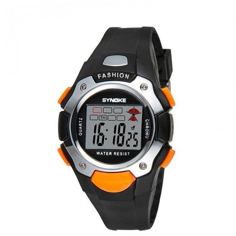 Đồng hồ thể thao trẻ em dây nhựa SYNOKE 99319 (Đen viền cam) bán chạy