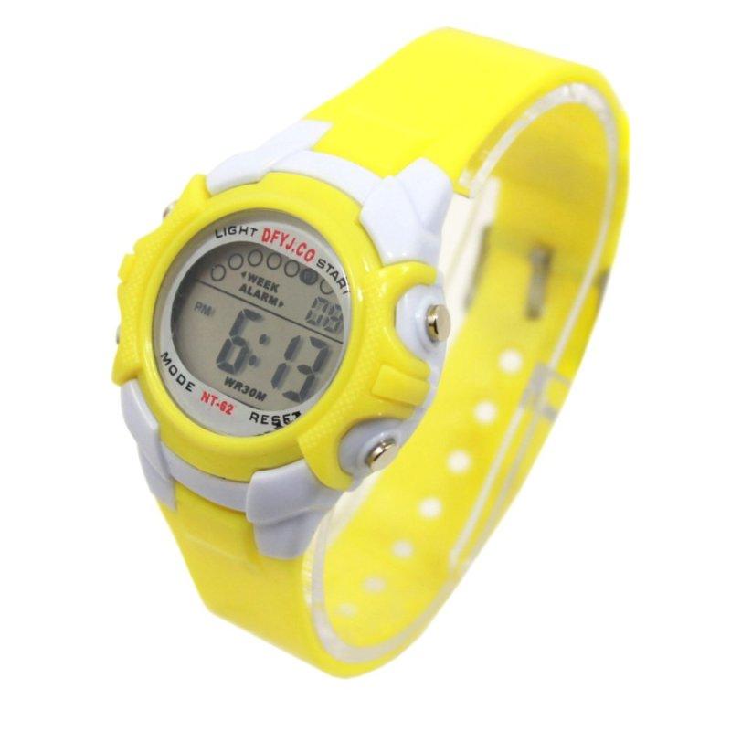 Đồng hồ thể thao trẻ em dây nhựa (Vàng) bán chạy