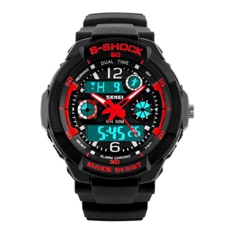 Nơi bán Đồng hồ thể thao trẻ em Skmei S-Shock 10KN60 (Mặt Đen Đỏ)