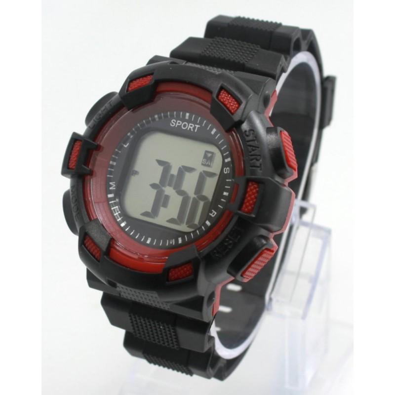 Đồng hồ thể thao trẻ em Sport 171 (Đen viền đỏ) bán chạy