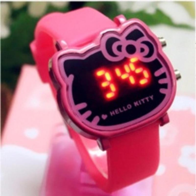 Đồng hồ thời trang bé gái có đèn LED, phong cách Hàn Quốc bán chạy