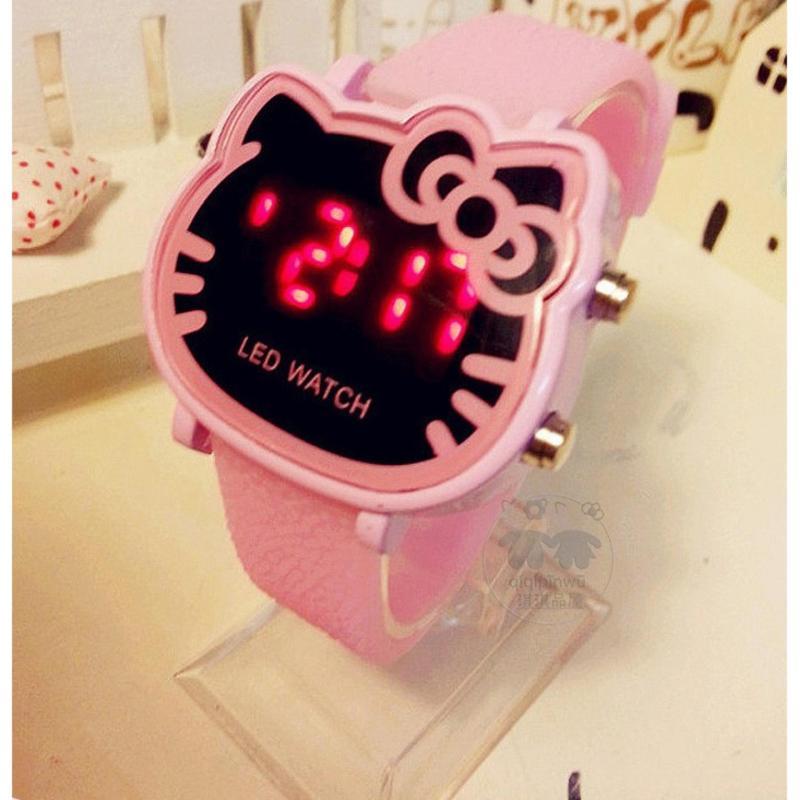 Đồng hồ thời trang Hàn Quốc dành cho bé gái, có đèn LED (hồng nhạt) bán chạy