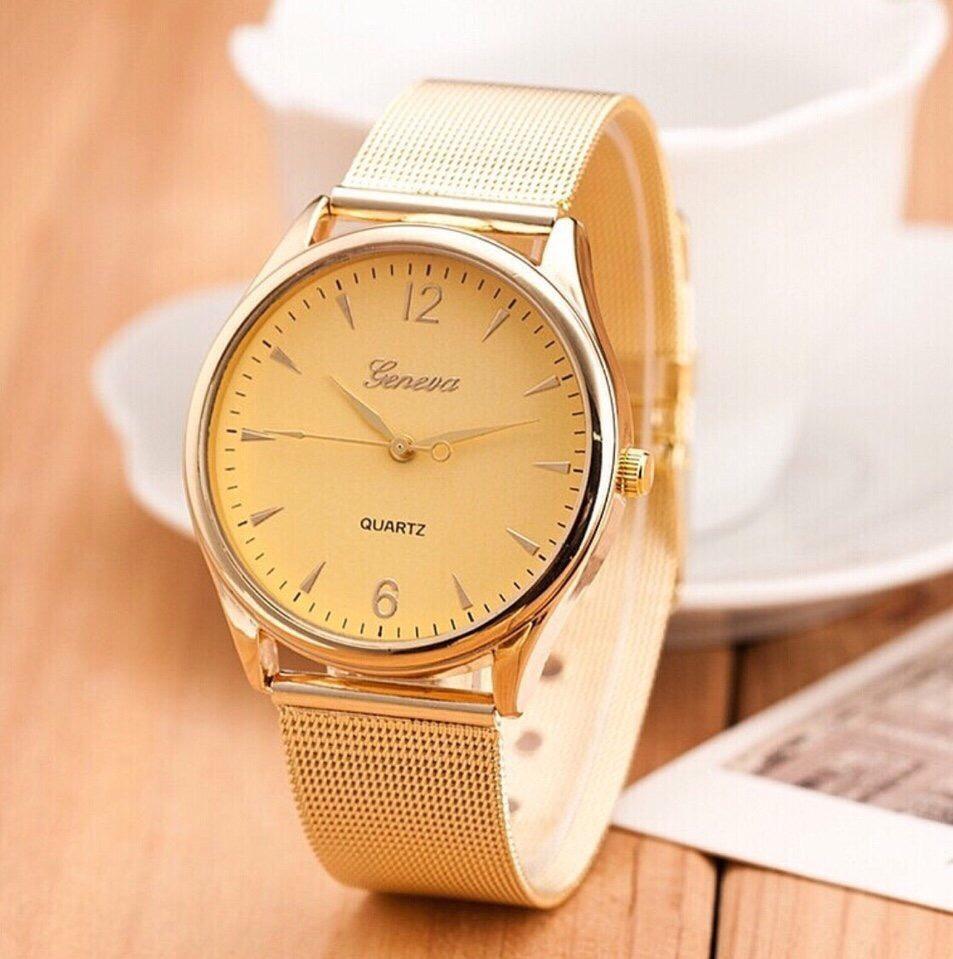 Chi tiết sản phẩm Đồng hồ thời trang nam Geneva dây thép không gỉ ( màu vàng )