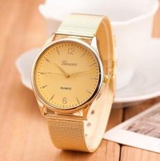 Đồng hồ thời trang nữ Geneva dây thép không gỉ ( màu vàng )