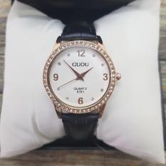 Đồng hồ thời trang nữ Guou 6761 – Viền đính đá, chịu nước 3 ATM