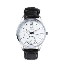 Đồng hồ thời trang yazole 314 dây da sang trọng ( màu đen mặt trắng )