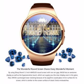 Đồng hồ thông minh cao cấp KW18 trắng bạc -AL