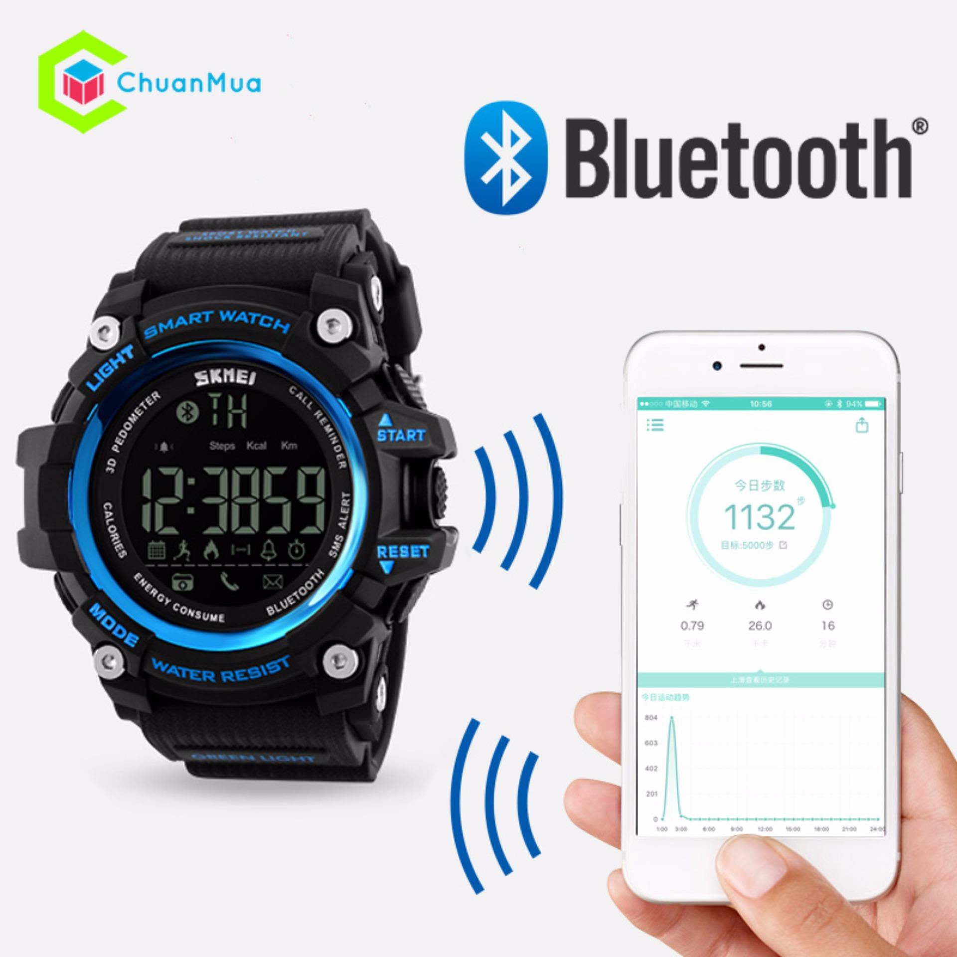 Đồng hồ Thông Minh Sức Khỏe Nam Skmei 1227 Smart Watch Pin 1 Năm – Mã: DHA475