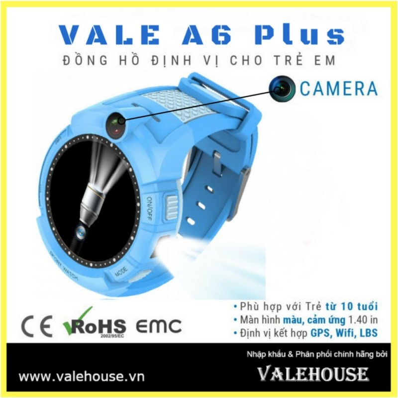 Đồng hồ thông minh trẻ em VALE A6 Plus XANH DƯƠNG 002 bán chạy