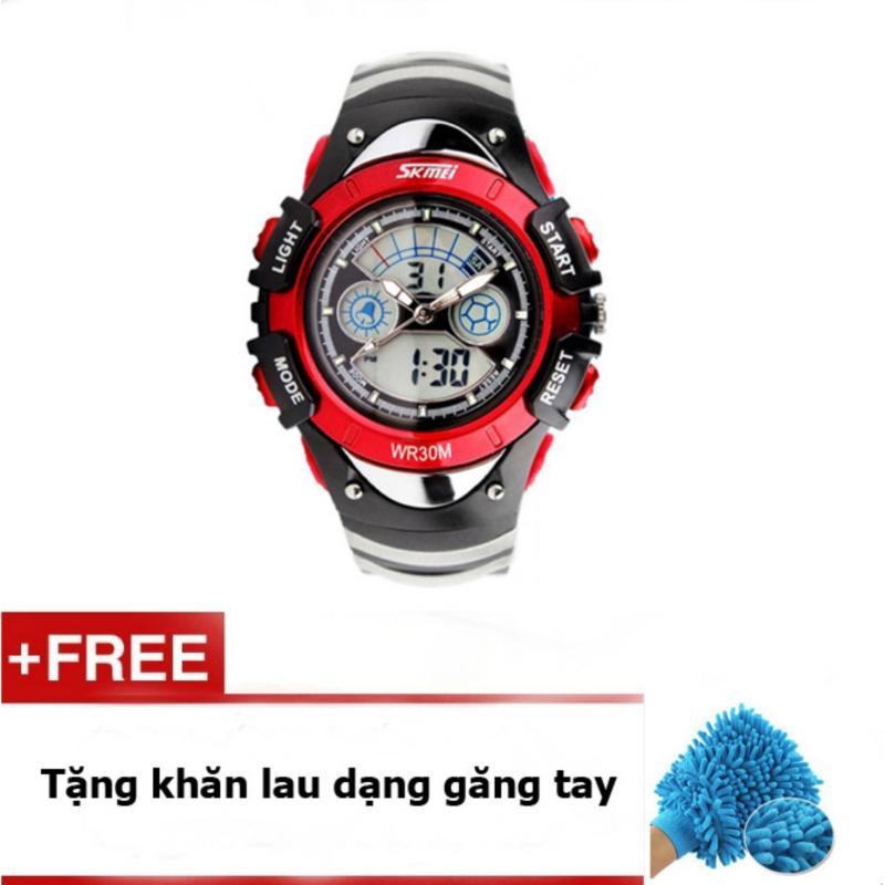 Đồng hồ trẻ em dây cao su Skmei 0998 (Đỏ) + quà tặng bán chạy