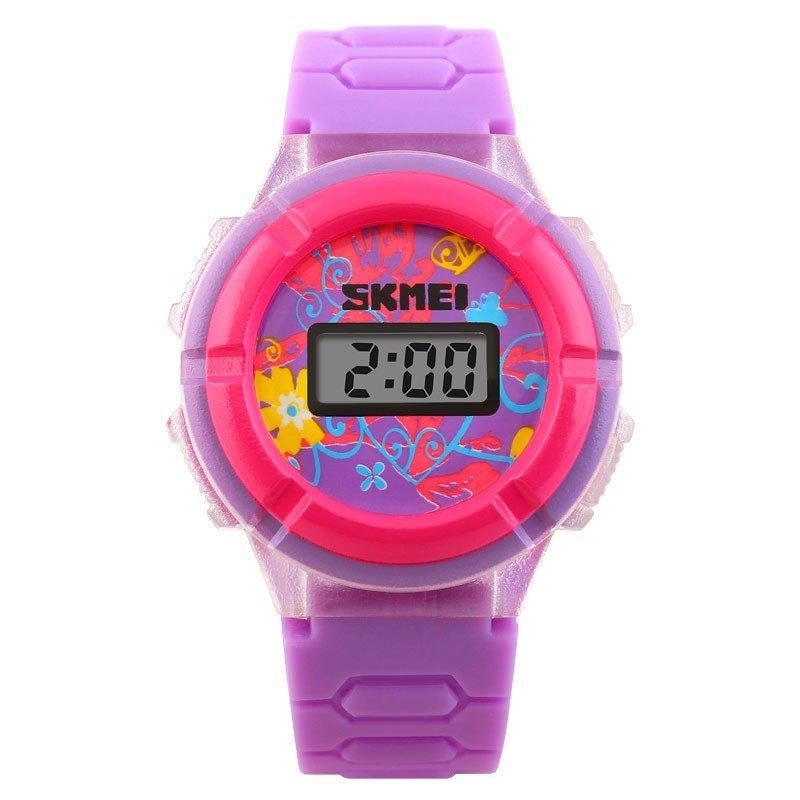 Đồng hồ trẻ em dây cao su Skmei 1097 (Tím) bán chạy