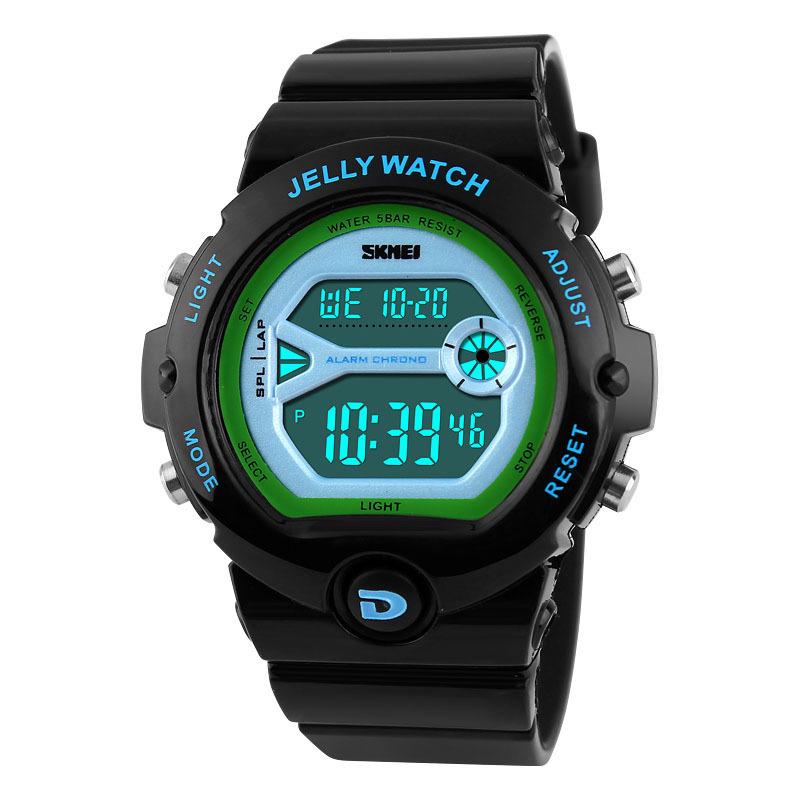 Đồng hồ trẻ em dây cao su Skmei 1153 (Đen) bán chạy