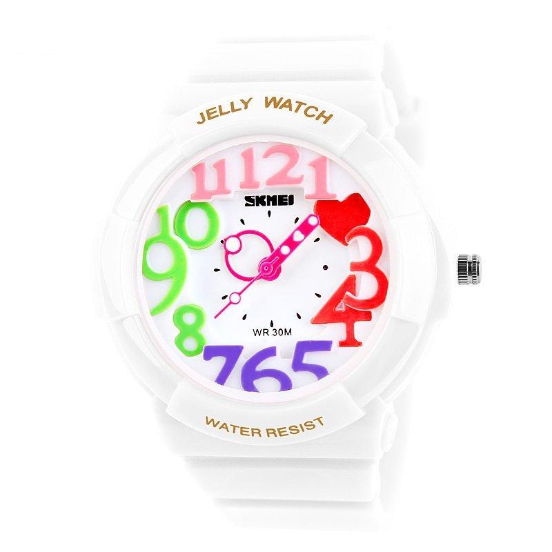 Đồng hồ trẻ em dây nhựa Skmei 1042 (Trắng) bán chạy