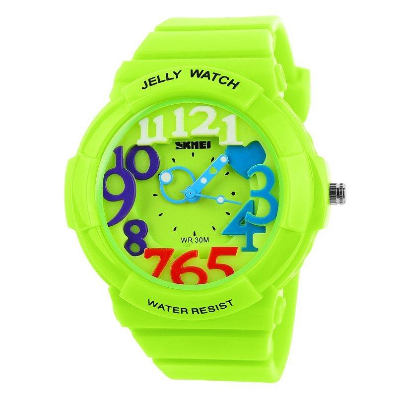 Nơi bán Đồng hồ trẻ em dây nhựa Skmei 1042 (Xanh lá)