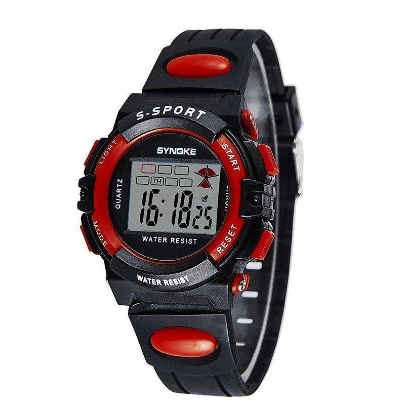 Đồng hồ trẻ em dây nhựa Synoke 99268 (Đen viền đỏ) bán chạy
