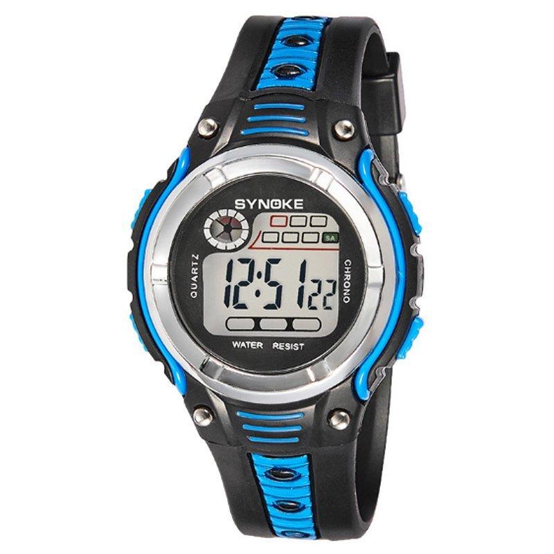 Đồng hồ trẻ em dây nhựa Synoke 99599 (Đen viền xanh dương) bán chạy