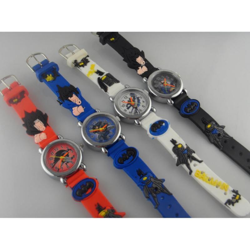 Đồng hồ trẻ em họa tiết Battman ( Màu ngẫu nhiên ) bán chạy