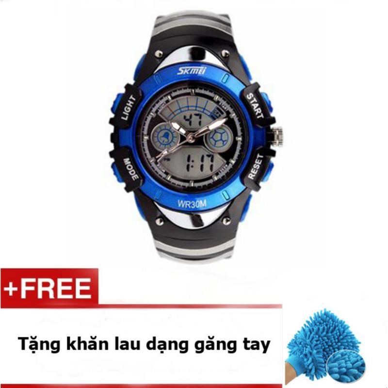 Đồng hồ trẻ em skmei 0998 (Xanh dương) + Quà tặng bán chạy