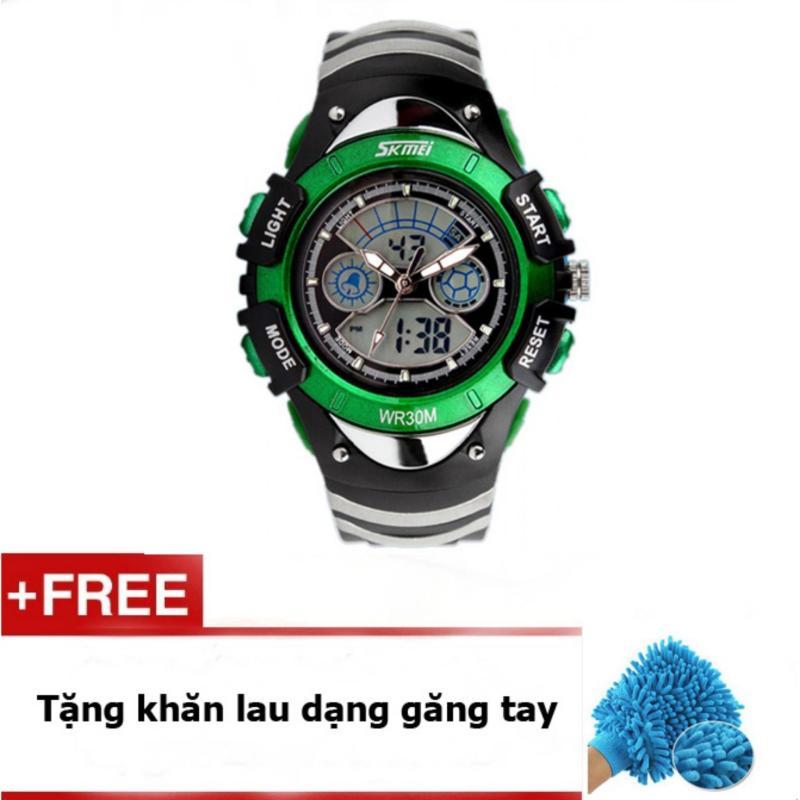 Đồng hồ trẻ em skmei 0998 (Xanh lá) + Quà tặng bán chạy