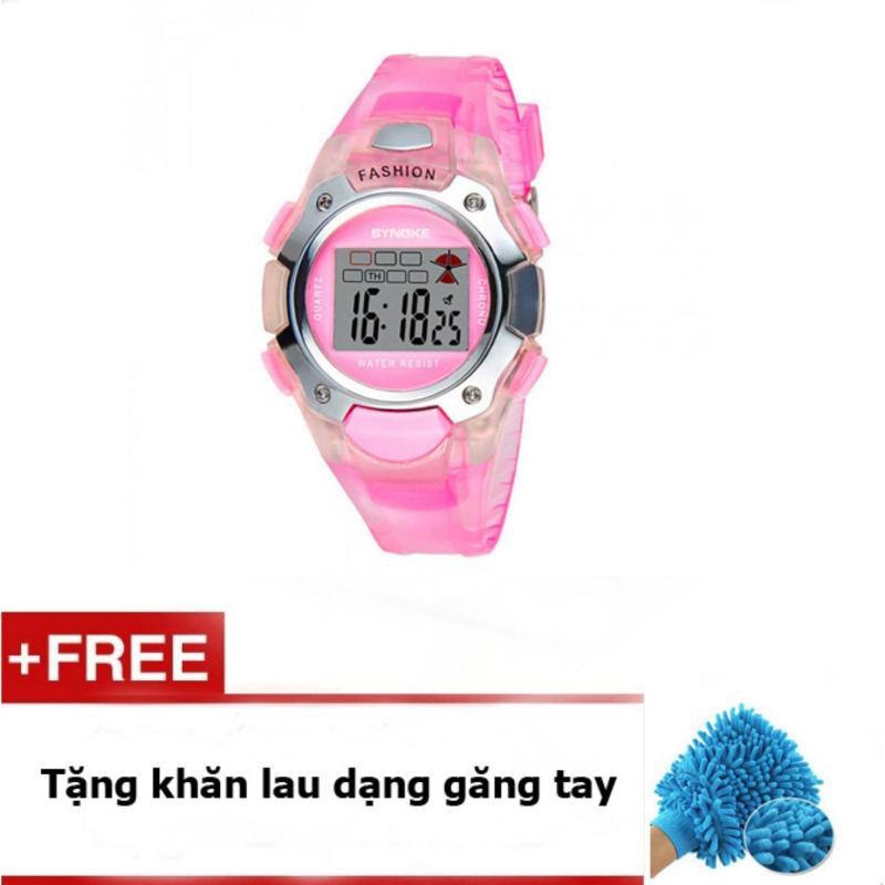 Đồng hồ trẻ em synoke 99319 (Hồng) + quà tặng bán chạy