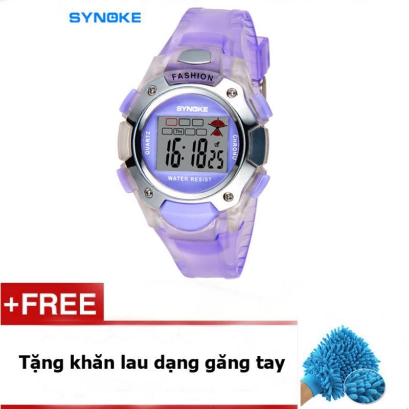 Đồng hồ trẻ em synoke 99319 (Tím) + quà tặng bán chạy
