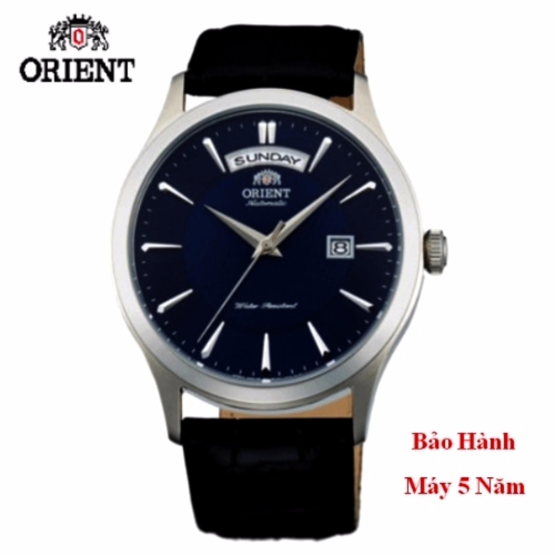 Đồng hồ tự động nam Orient mặt xanh sang trọng fac08004d0