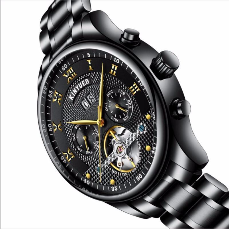 Nơi bán Đồng hồ tự động thương hiệu hàng đầu  KINYUED cao cấp thép không gỉ Không Thấm Nước(Đen)
