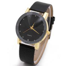 Đồng hồ unisex dây da tổng hợp Sinobi PKHRSI003-1 (đen viền vàng)