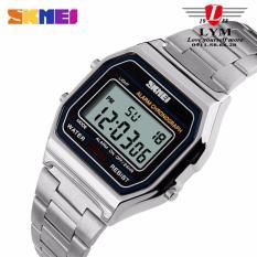 Đồng hồ Unisex điện tử dây kim loại SKMEI DG1123 (Bạc).