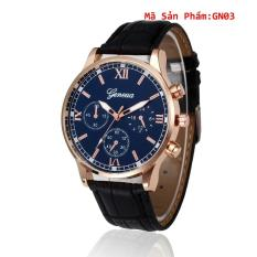 Đồng hồ Unisex Geneva GE2207 dây da cao cấp – Tặng đồng hồ điện tử thể thao