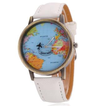 Đồng hồ unisex quả địa cầu (Trắng)