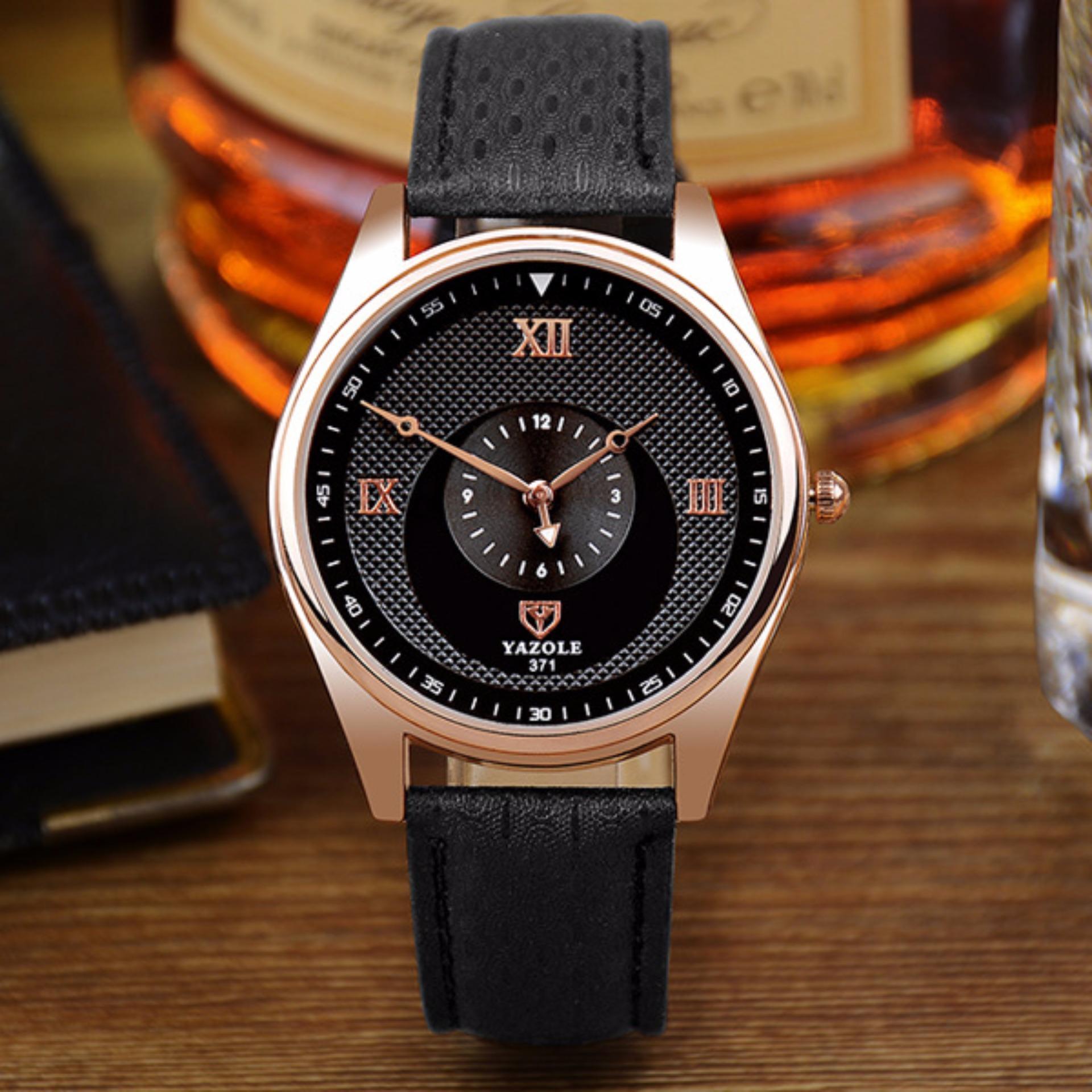 Đồng hồ yazole 371 dây da tinh tế