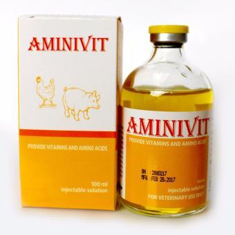 Dung dịch tiêm cung cấp Vitamin và Acid Amin, tạo sữa cho vật nuôi AMINIVIT (100 ml)