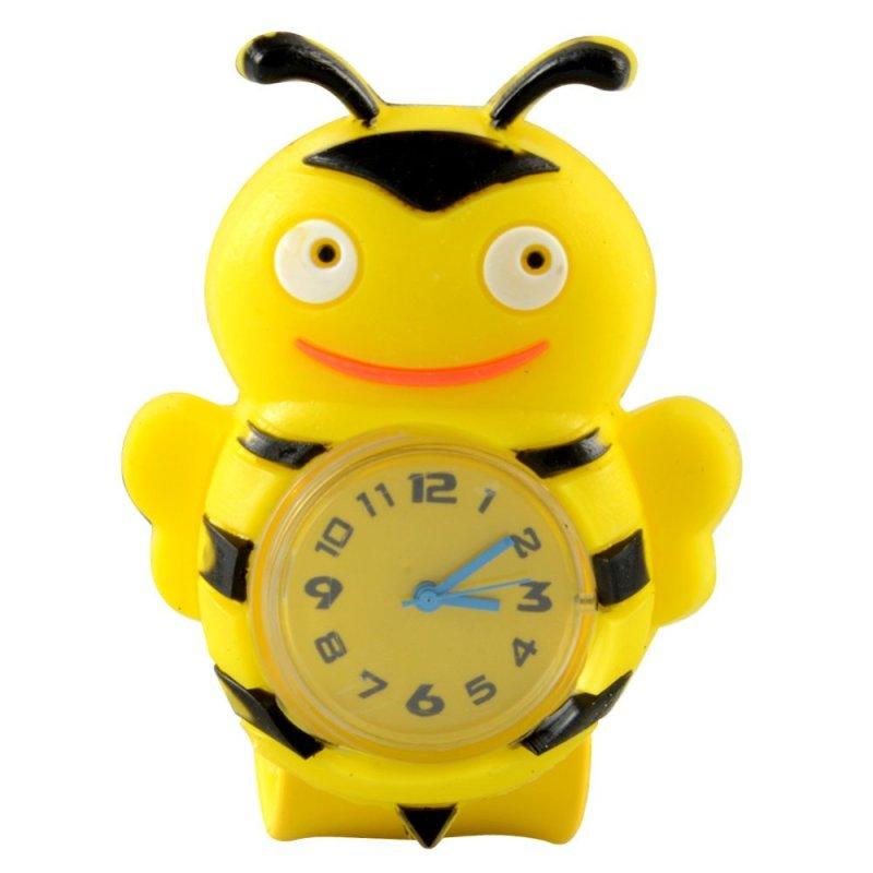 Easybuy Bee Cartoon Kid Quartz Sport Bendable Rubber Strap Wrist Watch - intl bán chạy