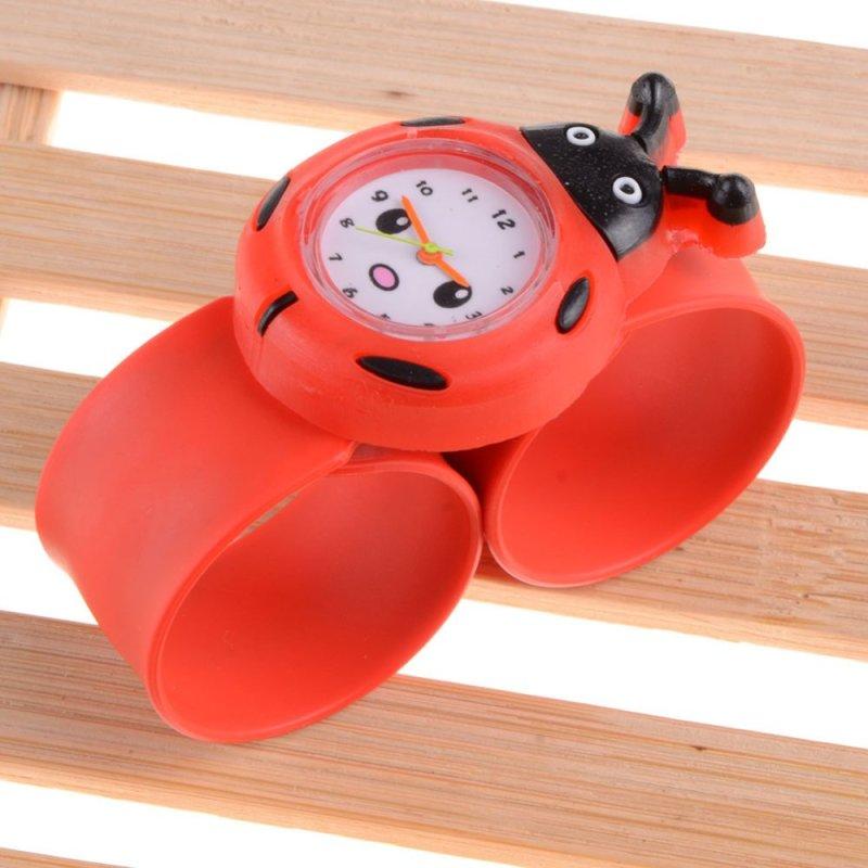 Easybuy Ladybug Cartoon Kid Quartz Sport Bendable Rubber Strap Wrist Watch - intl bán chạy