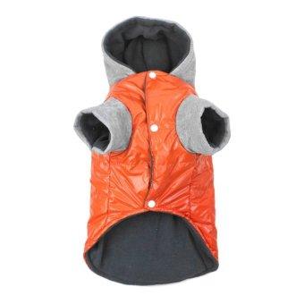 ERA Winter Dog Coat Shine Thickening Hoody Jacket Warm Coat DogsClothes With Cap - intl