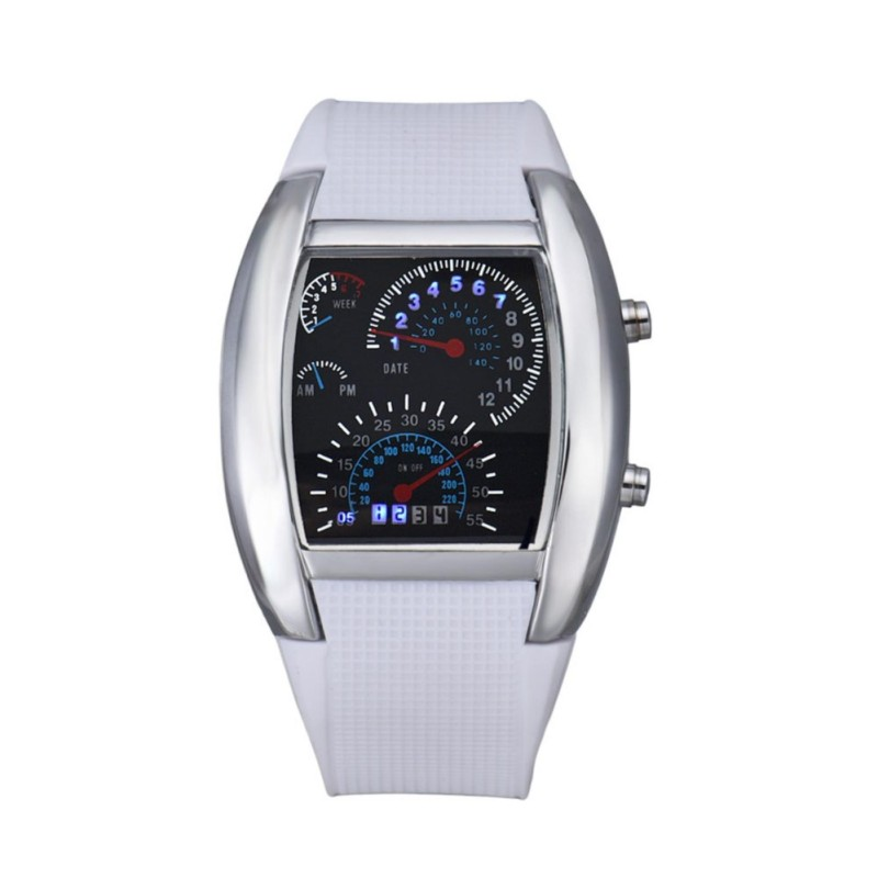 Nơi bán Fashion Aviation Turbo Dial Flash LED Watch Gift Mens Lady Sports Car Meter Luxury Fashion wristwatches LED - intl
