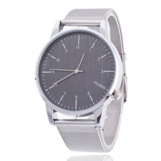 Fashion Brand Men's Business Numbers Scale Wrist Sliver Net Alloy Couples Watch – intl