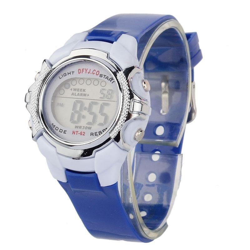 Nơi bán Fashion Children Digital LED Quartz Alarm Date Sports Wrist Watch BU - intl