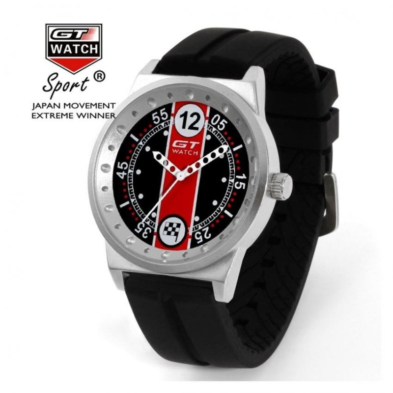 Nơi bán Fashion Mens Silicone GT Racing Watch Red(Not Specified)(OVERSEAS) - intl