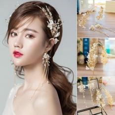Bộ băng đô và bông tai dành cho cô dâu