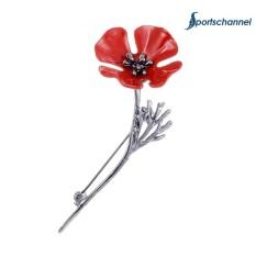 Thời trang Anh Túc Đỏ Thổ Cẩm Hoa Vintage Cổ Chân Trang Sức Phù Hợp Với Accessorie-quốc tế