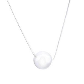 Fashion Silver Simple Pearl Pendant Chain Necklace Jewelry Gift Charm - intl