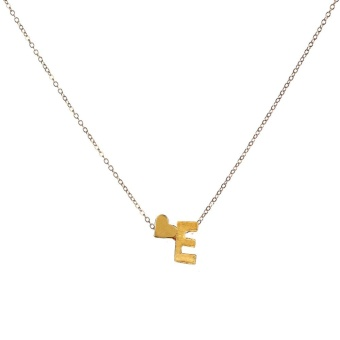 Fashion Women Gift 26 English Letter Name Chain Pendant Necklaces Jewelry - intl