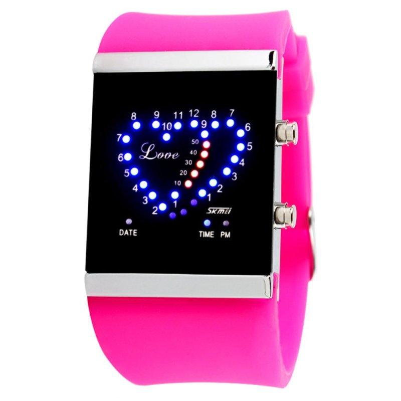 Nơi bán Fashionable LED Digital Watch Sport Wrist Watch 0952 Rose Red - intl