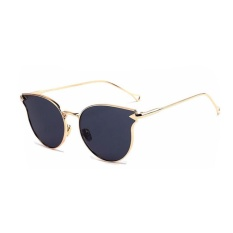 Female New Arrival Cat Eye Glasses Model Show Chic Arrow Sunglasses(Gold)-one size – intl