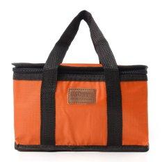 Túi lớn đựng cơm trưa cách nhiệt, đồ đi du lịch phòng nước có thể gập màu cam
