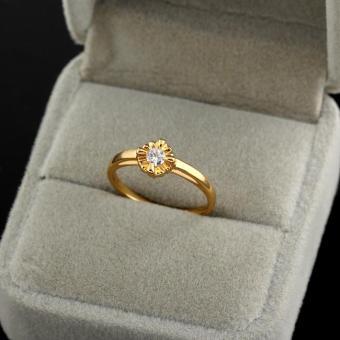 Floral Wedding Ring Copper 18K Gold Filled - Intl