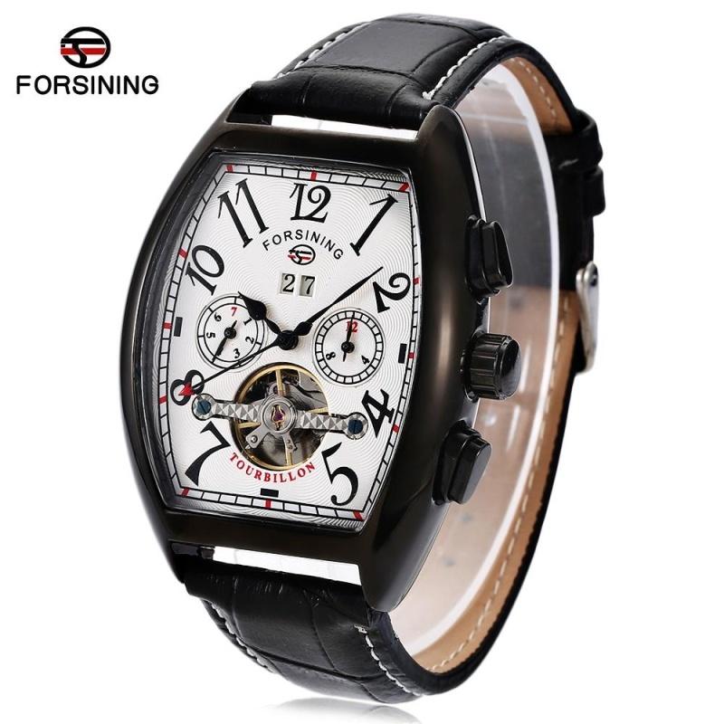 Nơi bán Forsining F201672801 Male Auto Mechanical Watch Tourbillon Date Day Month Display Wristwatch - intl